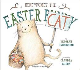 Book cover of Here Comes the Easter Cat.ure