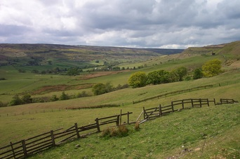 Photograph of Rosedale in Yorkshire.