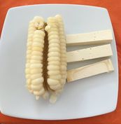 Photo of corn with cheese snack.